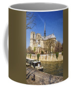 Notre Dame And The Seine Painterly Coffee Mug