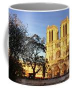 Notre Dame De Paris Facade Coffee Mug