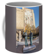 Notre Dame Library And Statue Coffee Mug