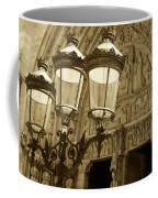 Notre Dame Street Lights Paris France Sepia Coffee Mug