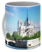 Notre Dame Over Water Coffee Mug