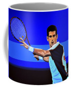 Novak Djokovic Coffee Mug by Paul Meijering