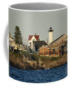 Nubble Light House Beach View Coffee Mug