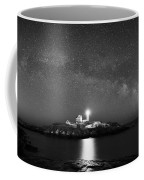 Nubble Lighthouse Milky Way Pano Bw Coffee Mug