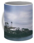Nubble Lighthouse Overcast  Coffee Mug