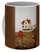 Nubble Lighthouse Shed And House Coffee Mug