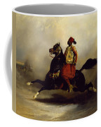 Nubian Horseman At The Gallop Coffee Mug by Alfred Dedreux or de Dreux