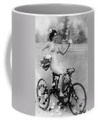 Nude And Bicycle, C1900 Coffee Mug