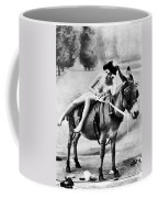 Nude And Donkey, C1900 Coffee Mug