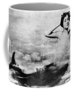 Nude As Mermaid, 1890s Coffee Mug