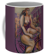 Nude Cyclists With Carracchi Bacchus Coffee Mug