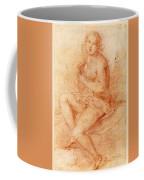 Nude Seated Woman Playing A Lute Coffee Mug
