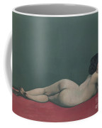 Nude Stretched Out On A Piece Of Cloth Coffee Mug