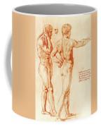 Nude Study Of Two Warriors Coffee Mug