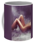 Nude Woman Body In Clouds Of Smoke Coffee Mug