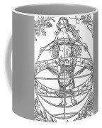 Nude Woman With The Zodiac Coffee Mug