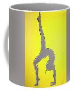 Nude Yoga Girl Gray Coffee Mug