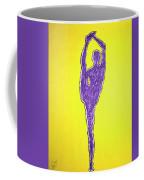 Nude Yoga Girl Violet Coffee Mug