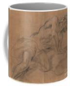 Nude Youth Leaning On A Cloud And Gazing Upward Coffee Mug