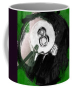 Number Eight Billiards Ball Abstract Coffee Mug