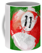 Number Eleven Billiards Ball Abstract Coffee Mug by David G Paul