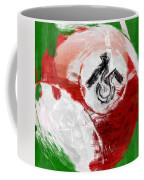 Number Fifteen Billiards Ball Abstract Coffee Mug by David G Paul