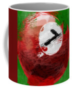 Number Seven Billiards Ball Abstract Coffee Mug by David G Paul