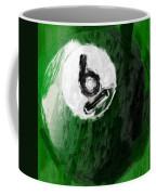Number Six Billiards Ball Abstract Coffee Mug by David G Paul