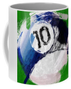 Number Ten Billiards Ball Abstract Coffee Mug