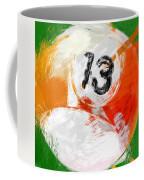Number Thirteen Billiards Ball Abstract Coffee Mug by David G Paul