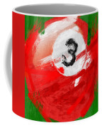 Number Three Billiards Ball Abstract Coffee Mug by David G Paul