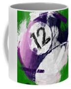 Number Twelve Billiards Ball Abstract Coffee Mug by David G Paul