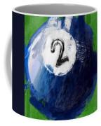 Number Two Billiards Ball Abstract Coffee Mug
