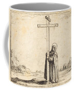 Nun Embracing The Holy Cross Coffee Mug