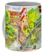 Nuremberg, Hand Drawn Picture Coffee Mug