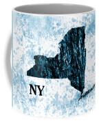 Ny State Map  Coffee Mug