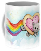 Nyan Cat Valentine Heart Coffee Mug