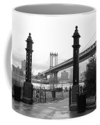 Nyc Manhattan Bridge Bw Coffee Mug