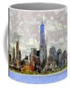 Nyc Skyline Digital Painting  Coffee Mug