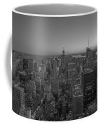 Nyc Sunset Bw Coffee Mug