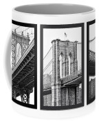 Nyc Three Bridges-east River Coffee Mug
