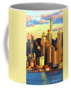 Nyc West Side In Gold And Blue  Coffee Mug