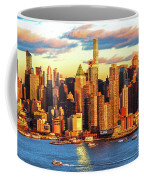 Nyc West Side Skyscrapers At Sundown Coffee Mug