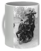 Nypd Motorcycle Stunts Coffee Mug