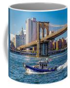 Nypd On East River Coffee Mug