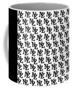 Nz New Zealand Black On White Coffee Mug