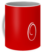 O In White Simple Script Coffee Mug