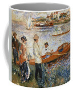 Oarsmen At Chatou Coffee Mug by Pierre Auguste Renoir