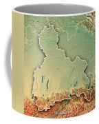 Oberbayern Regierungsbezirk Bayern 3d Render Topographic Map Bor Coffee Mug