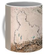 Oberbayern Regierungsbezirk Bayern 3d Render Topographic Map Neu Coffee Mug